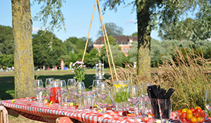 Barbecue-catering op locatie, compleet verzorgd door BAQ-fiets