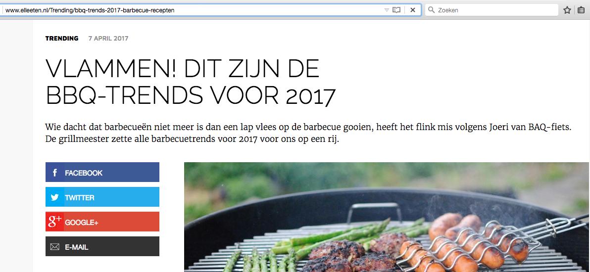Joeri's BBQ-trends voor 2017 op ELLE Eten