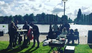BBQ-catering aan de Amstel