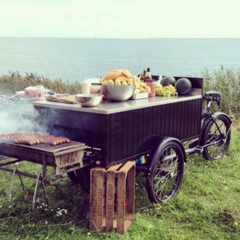 BBQ-catering op locatie Markermeer