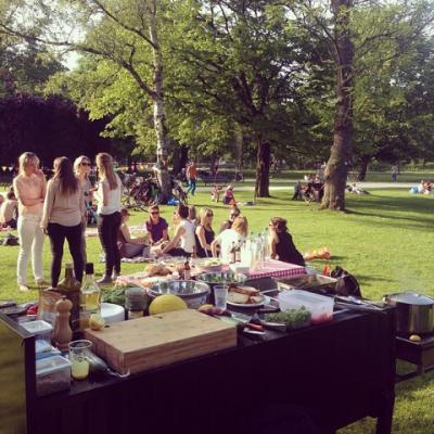 BBQ in het park