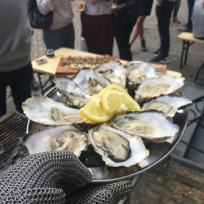 Oesters barbecue feest