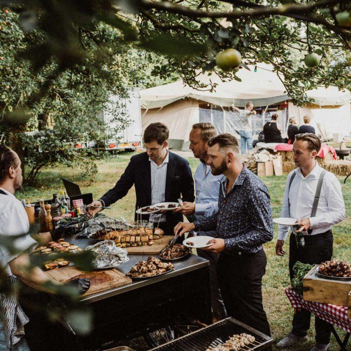 BBQ-catering @ trouwerij in het park