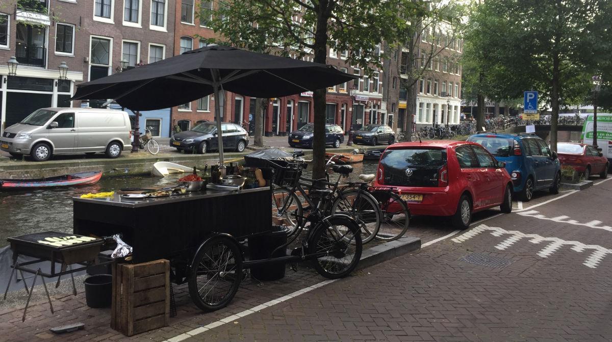 BBQ-fiets Amsterdam gracht
