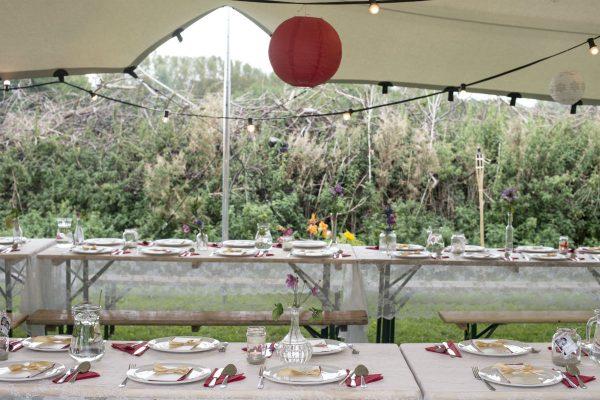 Bruiloft buiten - decoratie
