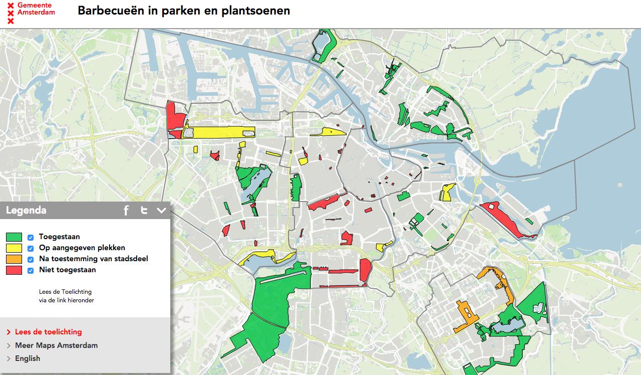 BBQ parken in Amsterdam
