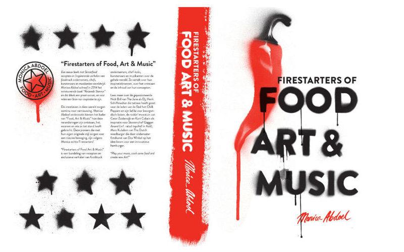 BBQ-chef Joeri in het boek Firestarters of Food, Art & Music (van Monica Abdoel)