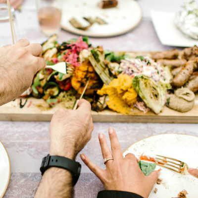 BBQ-catering op een bruiloft: shared diner