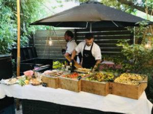 Volledig verzorgde BBQ-catering in de winter