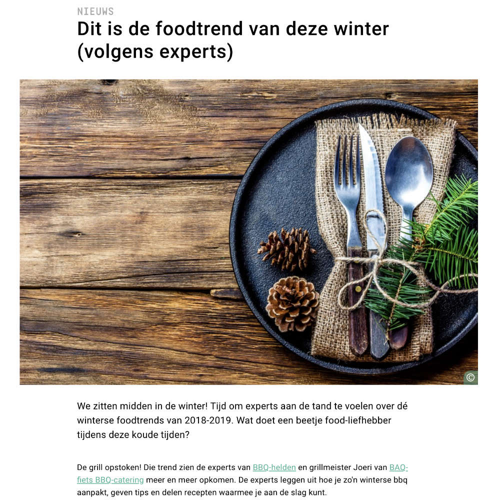 De foodtrend van winter 2019 op 24 Kitchen, geschreven door BAQ-fiets en BBQ-helden