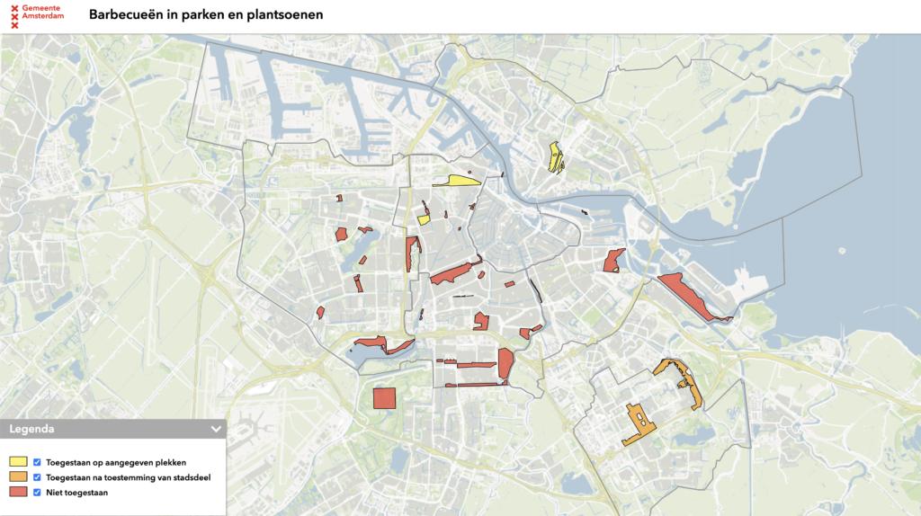 BBQ kaart Amsterdam 2021